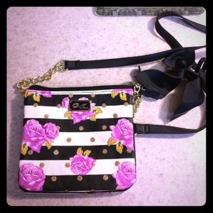 Gorgeous Betsey Johnson floral crossbody purse